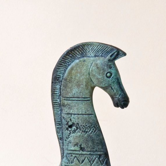 Bronze Greek Horse,  Geometric Metal Art Sculpture, Bronze Sculpture, Museum Quality Art, Greek Art, Ancient Greece, Equine Decor