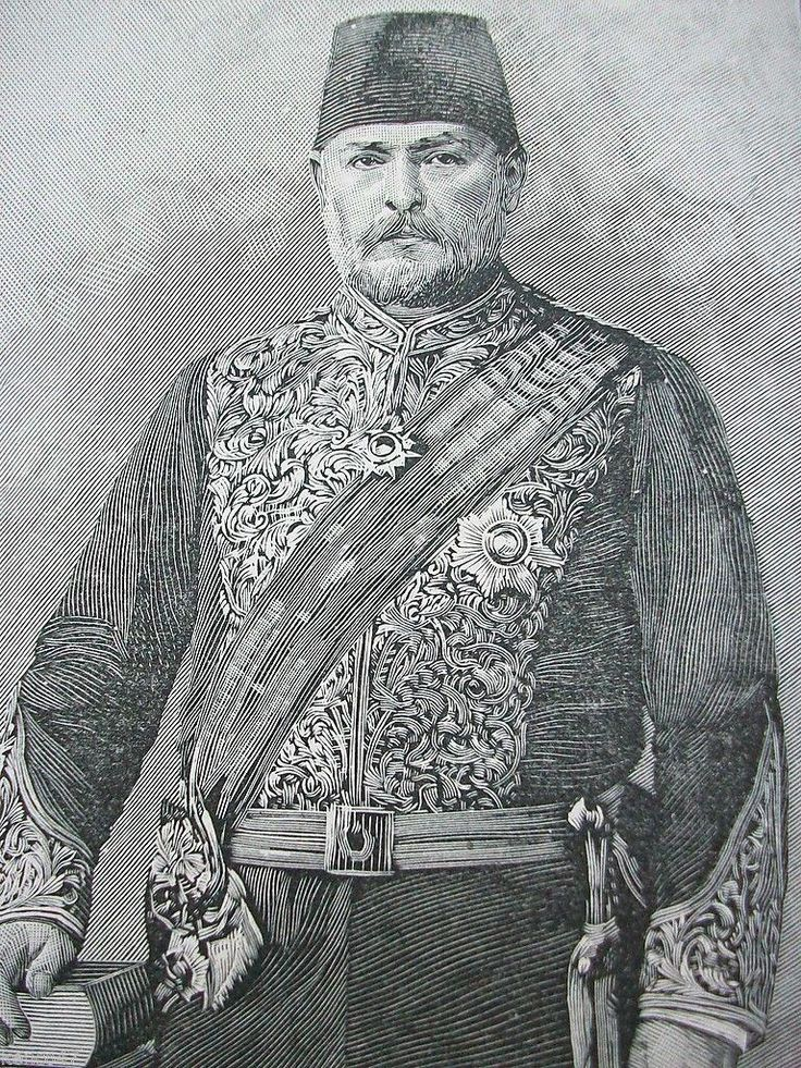 Costaki Anthopoulos Pasha, 1895.  He was an Ottoman Pasha of Greek Origin, and professor at the Naval College.
