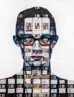 XChange by Nick Gentry - Obsolete disks and discarded negatives make for startling portraits at Robert Fontaine Gallery