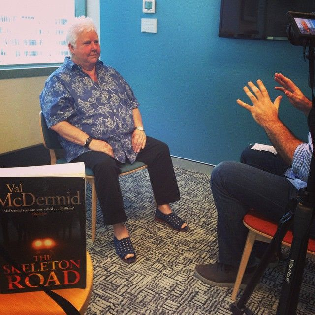 So excited to be chatting to the great Val McDermid at the palatial @hachetteaus offices. Great way to start a week!