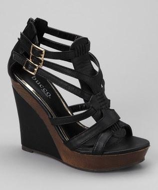 26.99  http://www.zulily.com/invite/pulelehualanitb965: Black Dasio, Footwear, Events, Wedge Sandals, Bucco Black, Wedges Sandals, Dasio Wedges