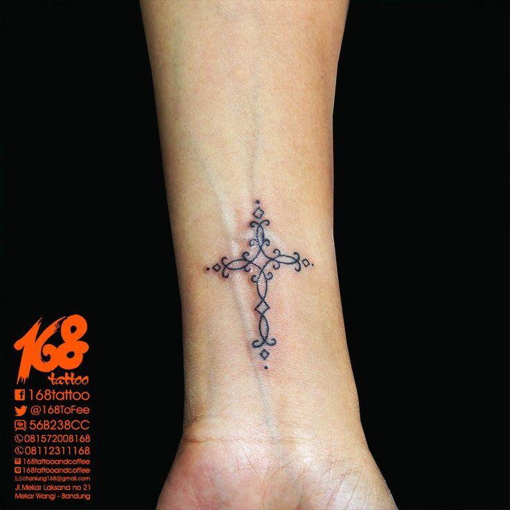 Cross tattoo small on women wrist placement my tattoo for Placement of tattoos