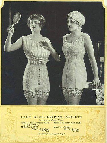 Lady Duff Gordon Corsets 1918