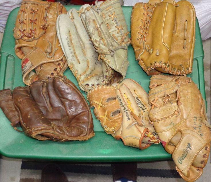 Vintage Baseball Gloves (23) Baseball Glove LOT