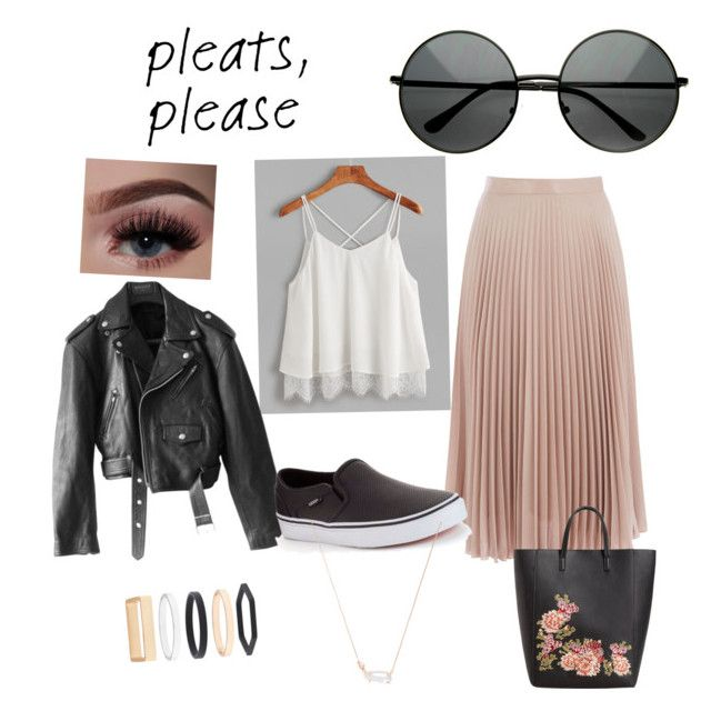 """""""🖤"""" by emmarheawaugh ❤ liked on Polyvore featuring Warehouse, Jean-Paul Gaultier, Vans, MANGO, Accessorize and Kendra Scott"""