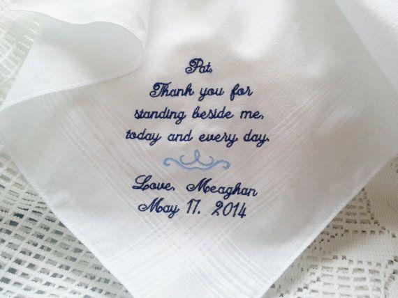 Wedding Thank You Gift For Brother : ... Hankies, Wedding Handkerchief, Dads, Future Wedding, Wedding Gifts