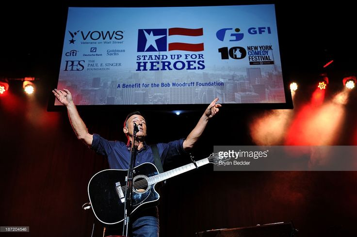 Bruce Springsteen performs at The New York Comedy Festival And The Bob Woodruff Foundation Present The 7th Annual Stand Up For Heroes Event at The Theater at Madison Square Garden on November 6, 2013 in New York City.