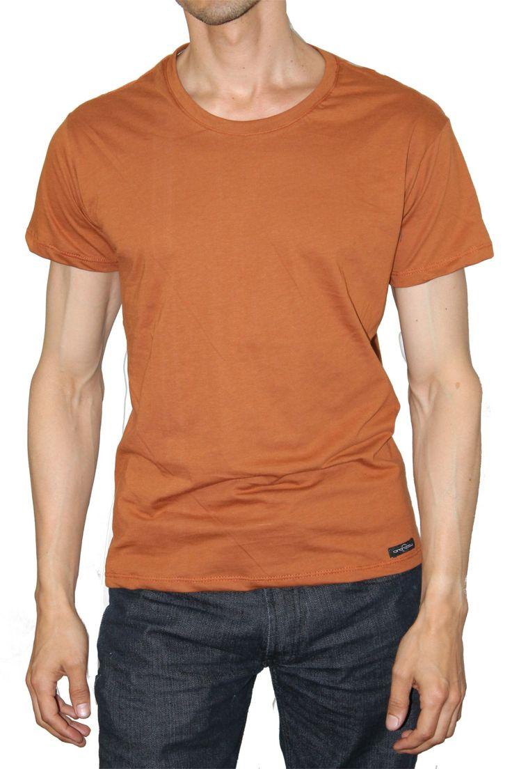 Camiseta Cuello Redondo Woy Terracota