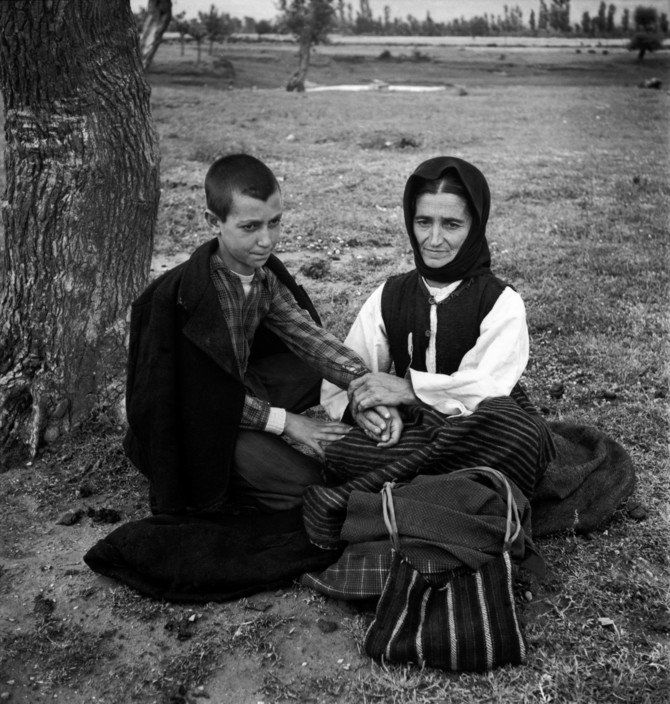 David Seymour 1948.  Refugees from the civil war areas.