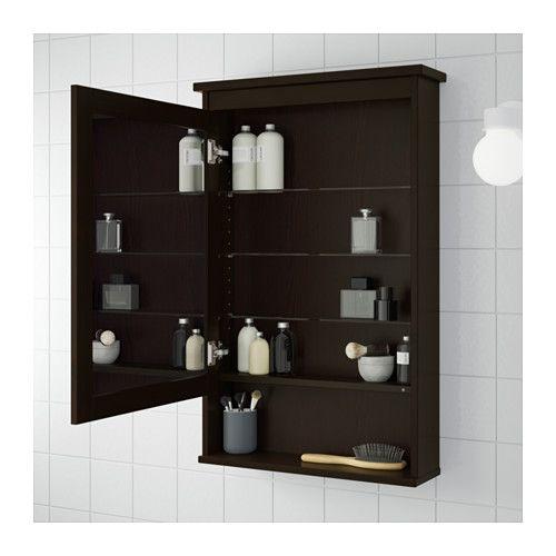 HEMNES Armoire à pharmacie 1 porte - brun-noir - IKEA 169$