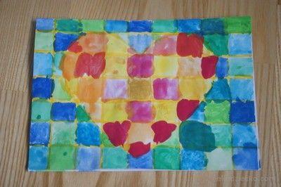 Walentynka z sercem praca plastyczna dla dzieci. Valentine heart artistic work for children.