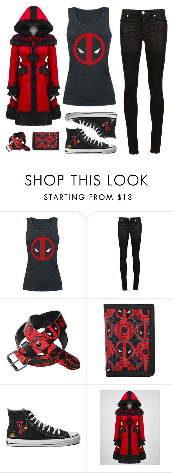 """Deadpool's Fan"" by ravenlux ❤ liked on Polyvore featuring Alyx, women's clothing, women, female, woman, misses, juniors and deadpool"