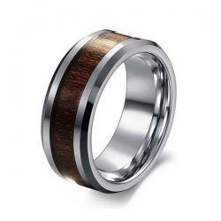 Tungsten Steel Carbon Fiber Rosewood Wide Finger Ring