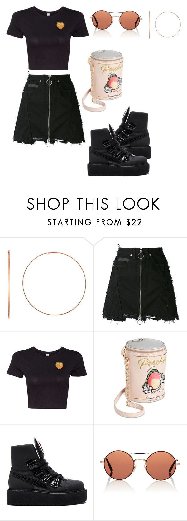 """Black for Spring II"" by the-beautiful-baker ❤ liked on Polyvore featuring Ginette NY, County Of Milan, Betsey Johnson, Puma and Oliver Peoples"