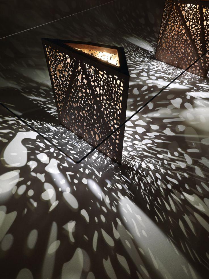 Tavolo luminoso rettangolare Collezione Riddled by HORM.IT | design Steven Holl