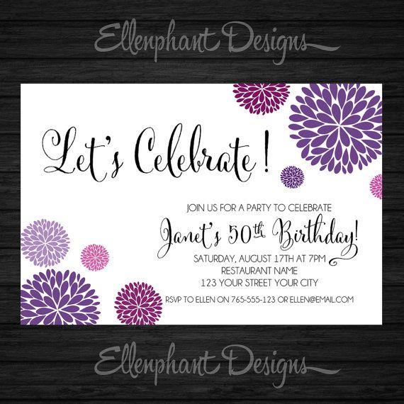 Best Invitations Images On Pinterest Birthday Ideas Birthday - Surprise birthday invitation for adults