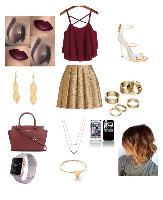 """My Birthday Dinner outfit #1"" by iyannastyles on Polyvore featuring Giuseppe Zanotti, Bling Jewelry, Creatures Of The Wind, Apt. 9, MICHAEL Michael Kors, Michael Kors and Jennifer Meyer Jewelry"