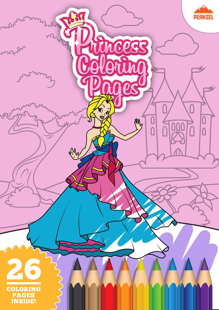 26 free printable princess coloring pages for kids. Don't miss it! :)