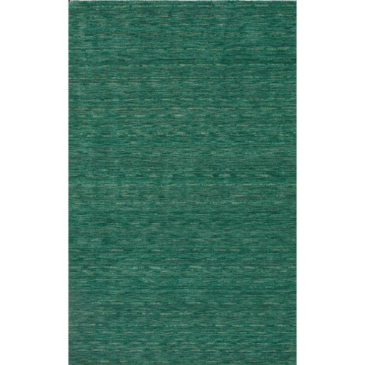 "Tonal Solid 100% Wool Accent Rug - Emerald (Green) (3'6""x5'6"")"