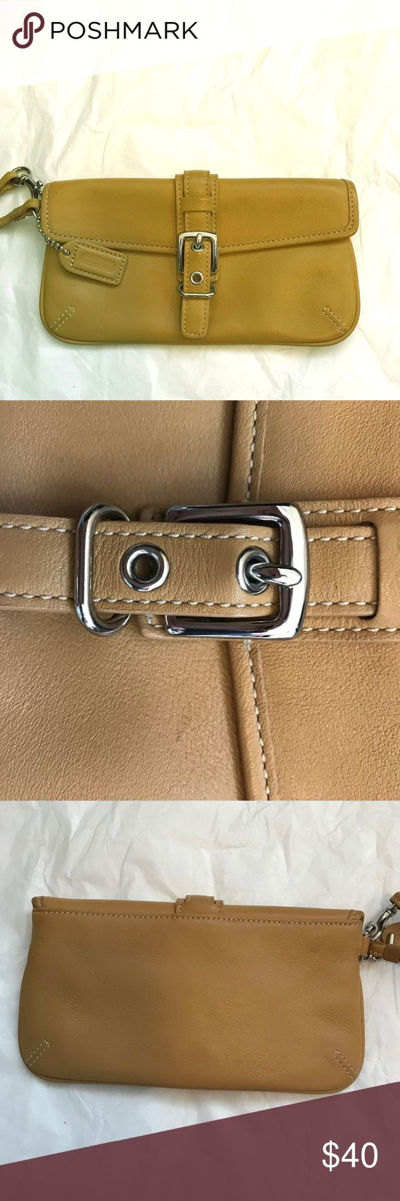 Coach Women's Wristlet Tan Coach Leather Wristlet - Excellent Condition Used only a handful of times Coach Bags Clutches & Wristlets