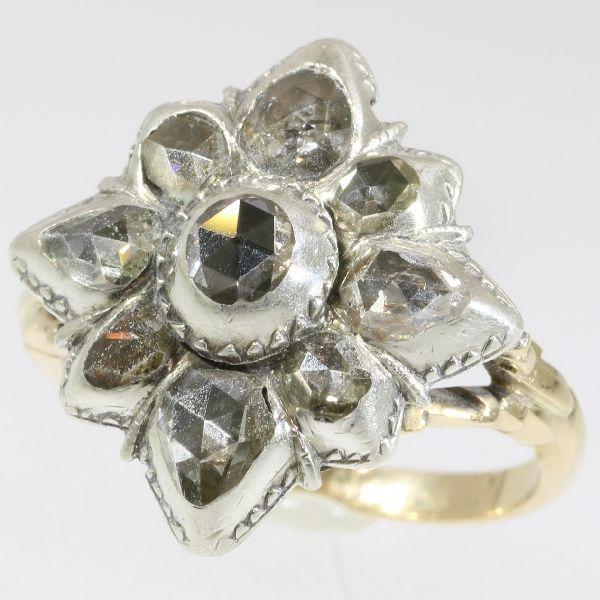 Online veilinghuis Catawiki: Antieke Georgische diamanten ring - Levendige roos slijpvormen - Ca. 1780