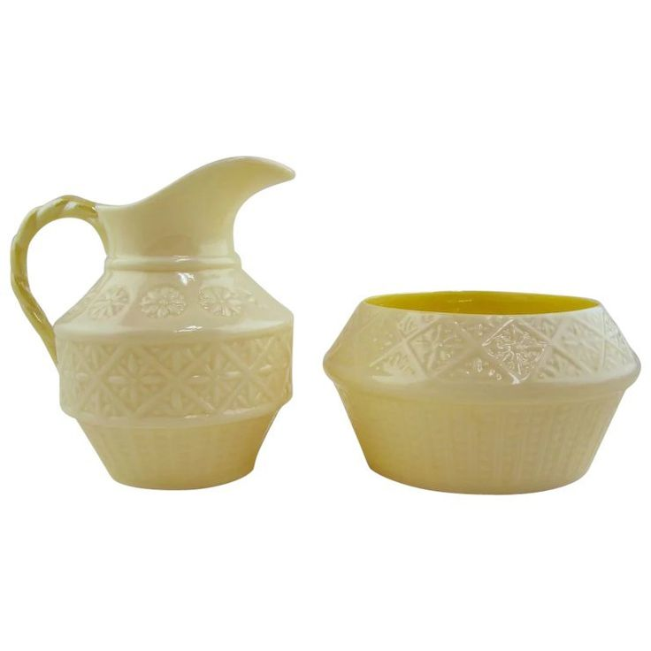 Pottery Wedding Anniversary Gifts: Belleek Cream And Sugar Set