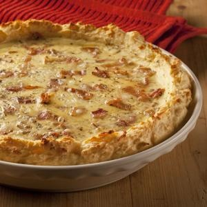 Tomato and Bacon Quiche with Mashed Potato Crust #OreIdaDinner