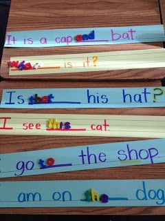 Using sentence strips as a literacy activity!