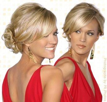 bridesmaid updo?: Hair Ideas, Hairstyles, Bridesmaid Hair, Hair Styles, Wedding Ideas, Makeup, Updos, Wedding Hairs, Carrie Underwood