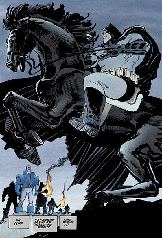 A incrível estátua O Cavaleiro das Trevas de Frank Miller: A Call to Arms | SuperVault