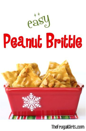 Easy Peanut Brittle Recipe! ~ from TheFrugalGirls.com ~ this delicious, classic Christmas treat is so simple to make and can be made in your microwave! It's the perfect holiday dessert or fun food gift! #recipes #desserts #thefrugalgirls