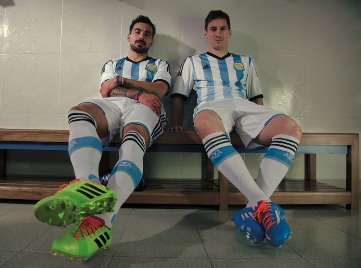 Ezequiel Lavezzi and Leo Messi are geared up and #allin for the #WorldCup in Brazil.