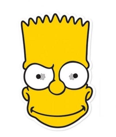 The Simpsons - Maska Bart. Maska hlavního hrdiny z animovaného seriálu The Simpsons je vhodným doplňkem ke karnevalovému kostýmu. Maska má otvory na oči a drží za pomocí gumičky. Pokud chcete vyrazit na párty inkognito a vtipně, pak je tato maska skvělou volbou.