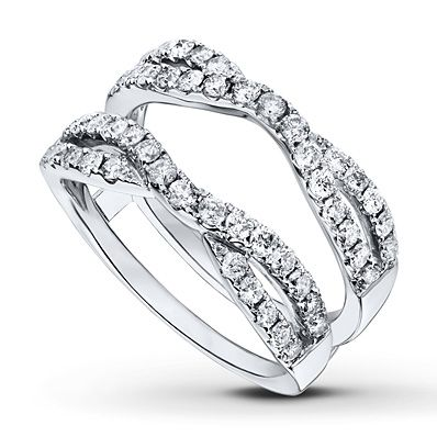 Diamond Enhancer Ring 1 carat tw Round-cut 14K White Gold