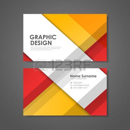 abstrakte kreative Visitenkarten Vorlage in rot und orange Mehr