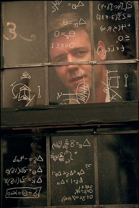 """A Beautiful Mind. (2001) """"It's only in the mysterious equation of love that any logic or reasons can be found."""""""