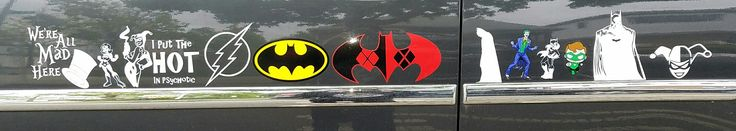 DC Heroes and Villains on my car. People think I'm cracked. Just a fan. If you don't know what the hat is for, you're not a Batman fan. Lol