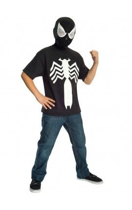 kit disfraz de spiderman black ultimate spiderman para nio