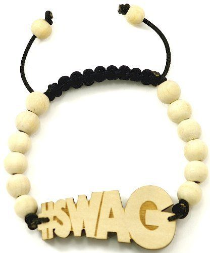 #SWAG New Good Wood Goodwood Maple 10mm Bead Natural Wood Pendant Replica Bracelet Piece GWOOD. $6.95. Smooth finish back. #SWAG Wood Pendant Piece Bracelet. 10 mm wood bead bracelet with two 8 mm wood end beads. Adjustable macrame design adjusts from 7 inches to 11 inches.. Save 86% Off!