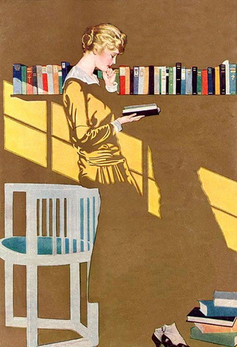 Coles Philips (American artist,1880-1927) | one of his famous Fadeaway Girls, using negative space