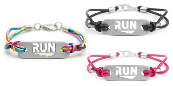ATHLETE INSPIRED, Inc. ® RUN Running Bracelet: multicolor black & pink. Running Jewelry, Run Bracelet, Gifts for Runners, Running Motivation, Running Inspiration #running by Ironjen/Athlete Inspired, Inc.