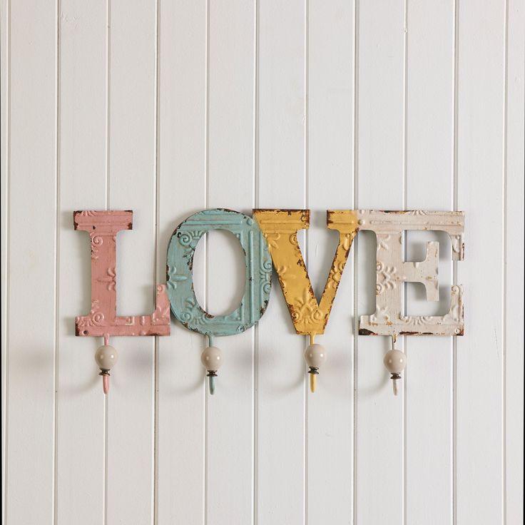 LOVE WALL HOOKS  - MULTI/ PASTEL