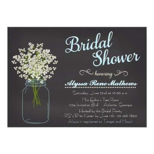 438 best mason jar baby shower invitations images on pinterest, Baby shower invitations