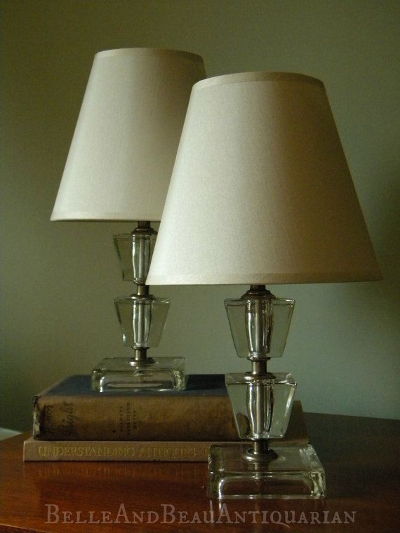 Vintage Mod Glass Lamps By Leviton By Bellebeauantiquarian