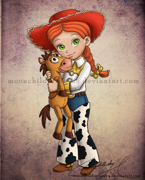 Child Jessie by moonchildinthesky.deviantart.com    I love this artist...I wish I could buy prints of all of her 'child' Disney works.