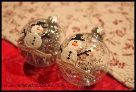 How I Made a Simple Puff Paint Snowman Ornament
