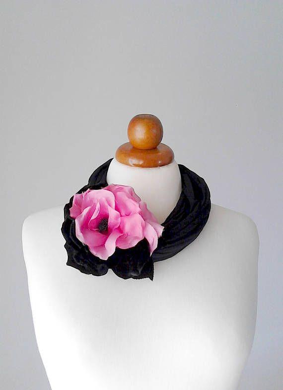 Women fashion jewelry necklace poppy jewelry flower necklace