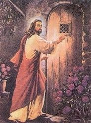 no door handle on the outside, Christ waits to be invited into our hearts