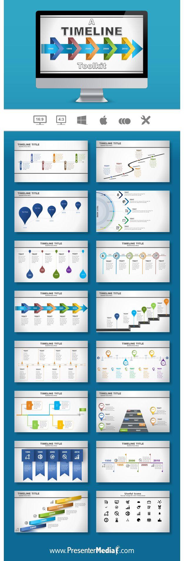 Timeline Toolkit Presentation Template #PowerPoint #Timeline #Presentation http://bit.ly/2bAQMrz