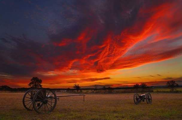 Sunset over Gettysburg Battlefield.... Sandy Phelps-Gonzales Photography